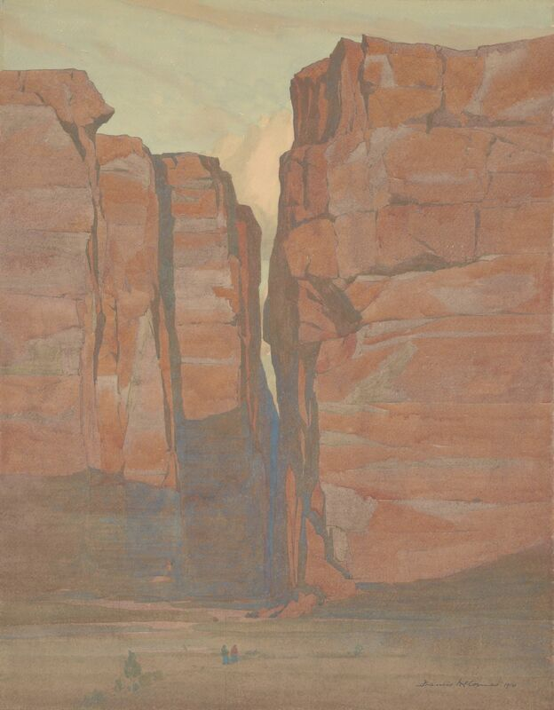 Francis McComas, 'Navajo Gateway, Arizona', 1914, Painting, Watercolor, de Young Museum