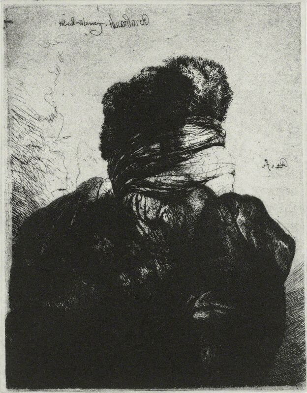 Glenn Brown, 'Layered Portrait (after Rembrandt) 7', 2008, Print, Etching on paper, Velin Arches 300gsm, Gagosian