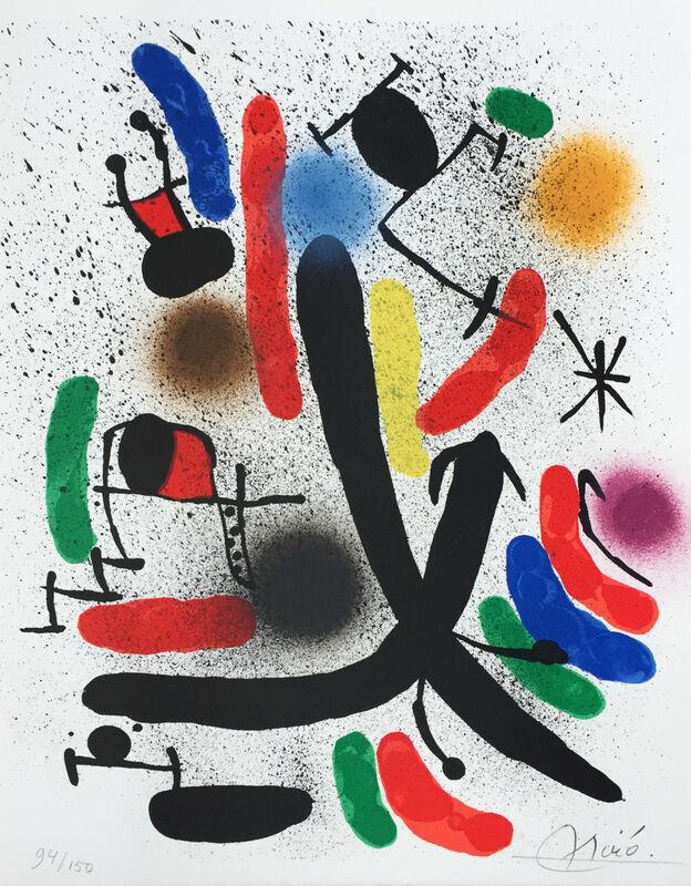 Joan Miró, 'Joan Miró Litógrafo I - A (M.855)', 1972, Print, Lithography on colours, Artelandia Gallery