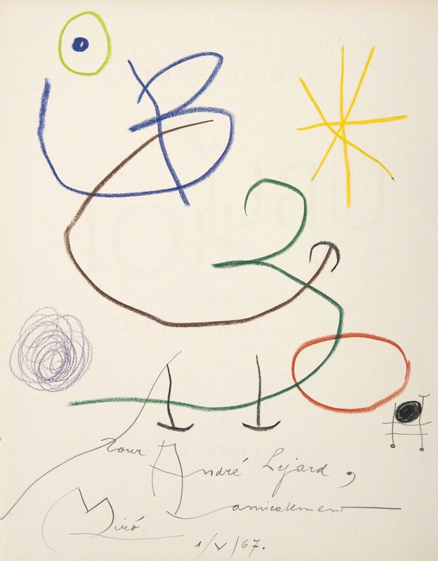 Joan Miró, 'Ubu roi', 1967, Drawing, Collage or other Work on Paper, Pastel on paper, HELENE BAILLY GALLERY