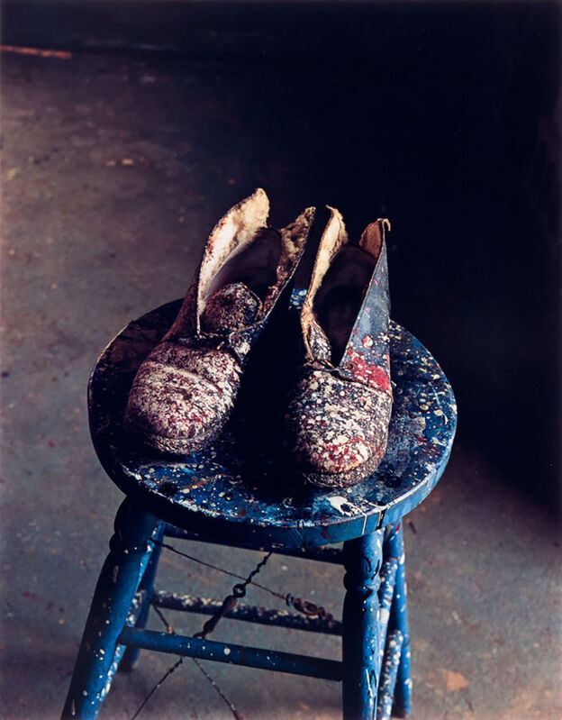 Evelyn Hofer, 'Lee Krasner's Shoes, Pollock Studio, Long Island', 1988, Photography, Dye Transfer Print, Danziger Gallery