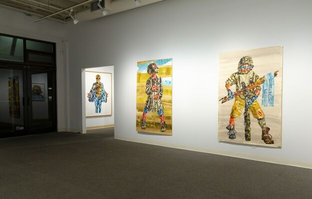 J. D. Perkin: New Work - Screen Printed Paper Constructions, installation view