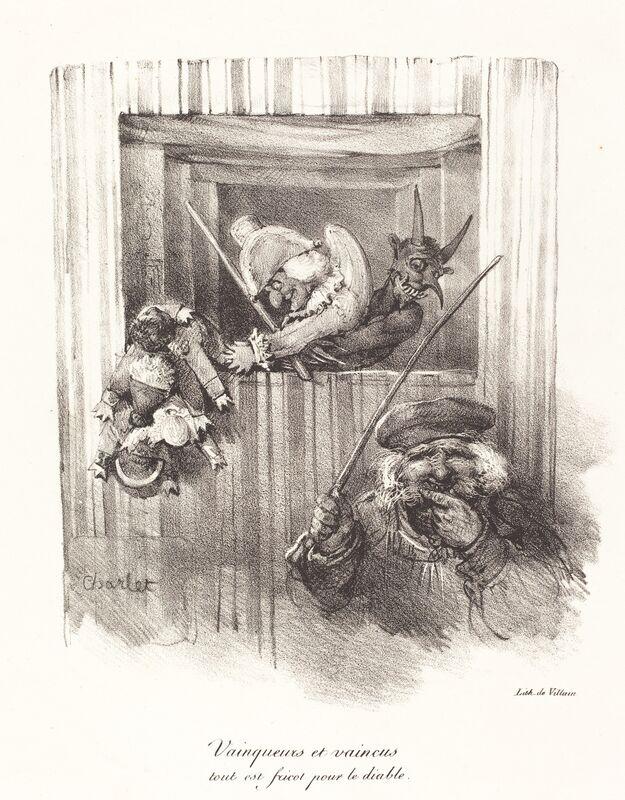 Nicolas-Toussaint Charlet, 'Vainqueurs et vaincus, tout est fricot pour le diable (The Vanquishers and the Vanquished, All Food for the Devil)', 1822, Print, Lithograph on wove paper, National Gallery of Art, Washington, D.C.