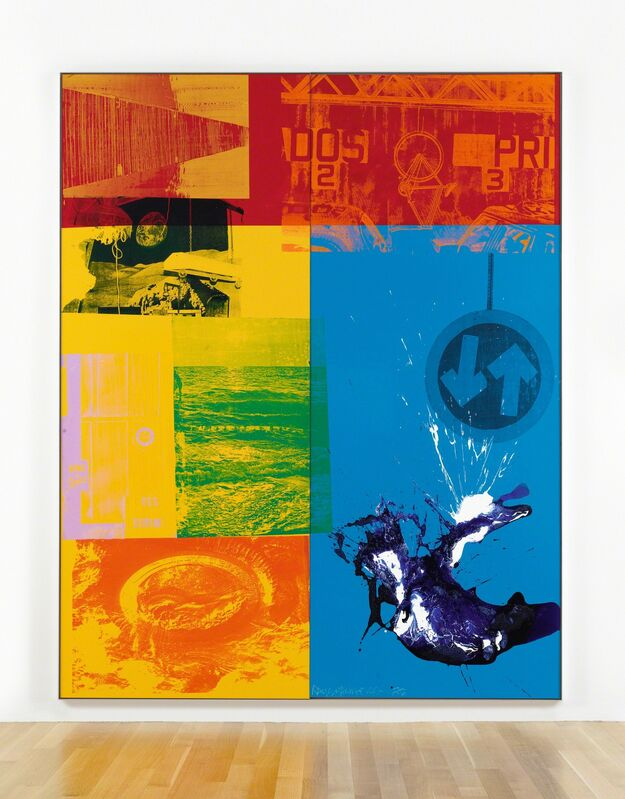 Robert Rauschenberg, 'Spindlegrip (Urban Bourbon)', 1988, Painting, Acrylic on enameled aluminum, in 2 parts, Sotheby's: Contemporary Art Day Auction