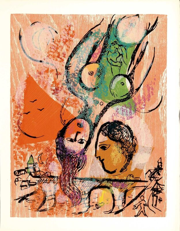 Marc Chagall, 'J'habite ma Vie (Poèmes, #24)', 1968, Print, WOODCUT, Martin Lawrence Galleries