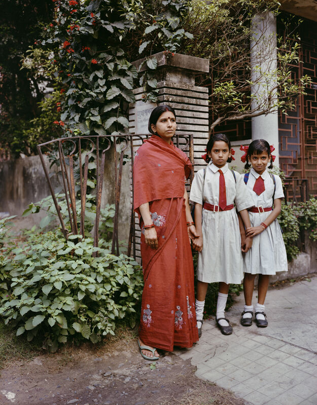 Laura McPhee, 'Manna, an Ayah, with her two charges, Jodhpur Park, Kolkata', 1998, Photography, Archival pigment ink prints, Benrubi Gallery