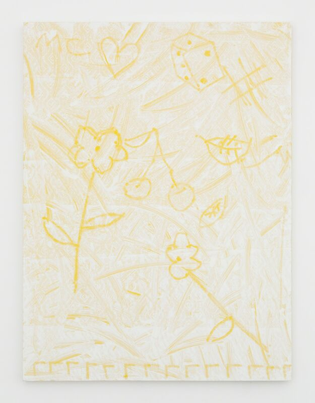 Michael Clifford, 'A Subtle Dance w/ Chance', 2015, Painting, Flashe paint, gesso, Bounty paper, on panel, Nina Johnson