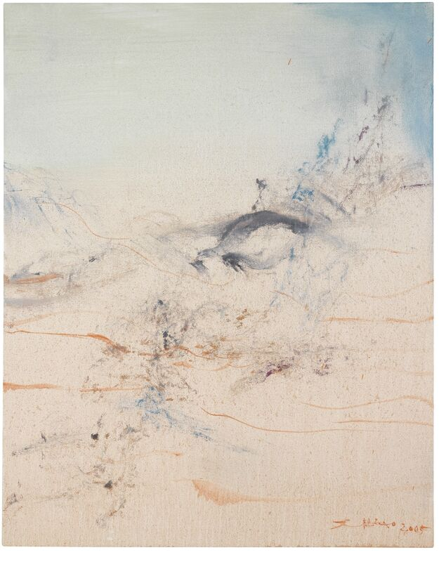 Zao Wou-Ki 趙無極, 'Juin 2005 (2)', 2005, Painting, Oil on canvas, Omer Tiroche Gallery