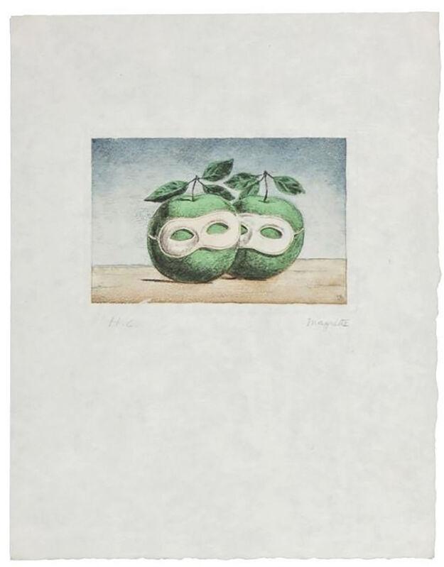 René Magritte, 'La Prêtre Marie (La Valse Hésitation)', 1968, Print, Etching and aquatint in colors on Japan paper, michael lisi / contemporary art