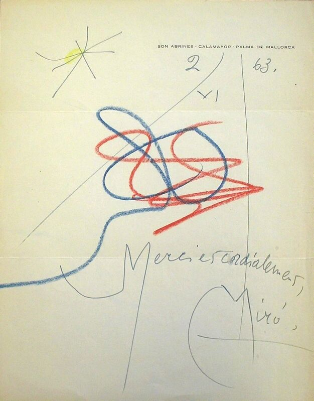 Joan Miró, 'Untitled', 1963, Drawing, Collage or other Work on Paper, Mixed media on paper, Nicholas Gallery