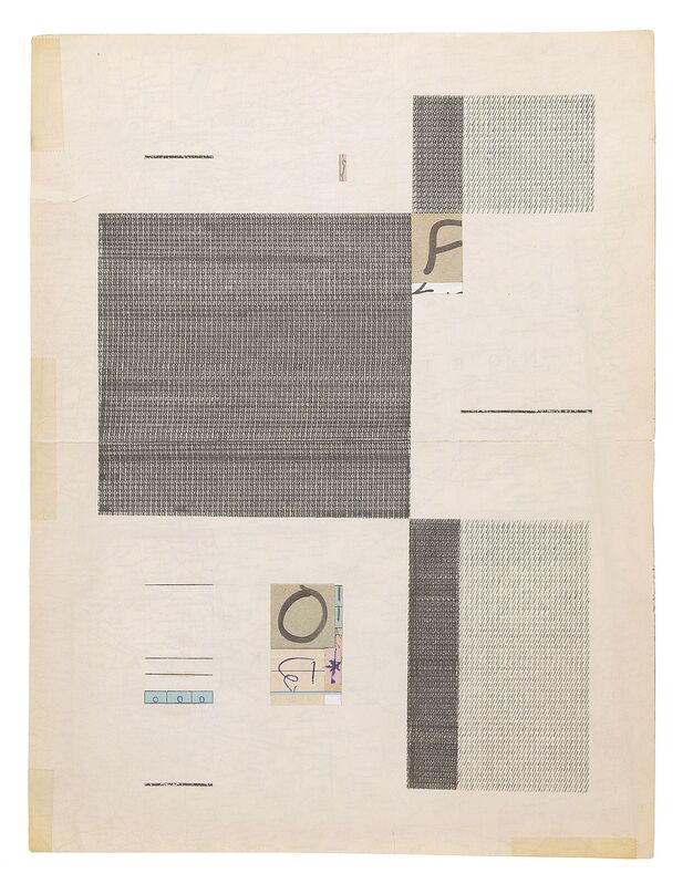 Jacob Whibley, 'there are no soloists in a fugue (1959-2013)', 2013, Drawing, Collage or other Work on Paper, Ink, graphite and ephemera on paper, Narwhal Projects