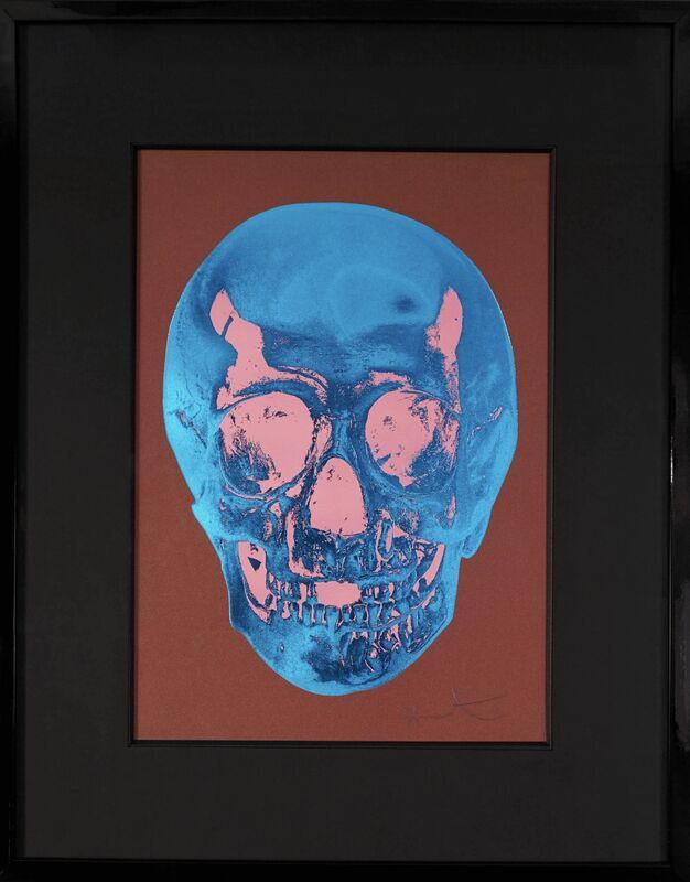 Damien Hirst, ''Till Death Do Us Part Skull, Brown/Blue ', 2012, Print, Silkscreen, Foil-block, Glaze, Arton Contemporary