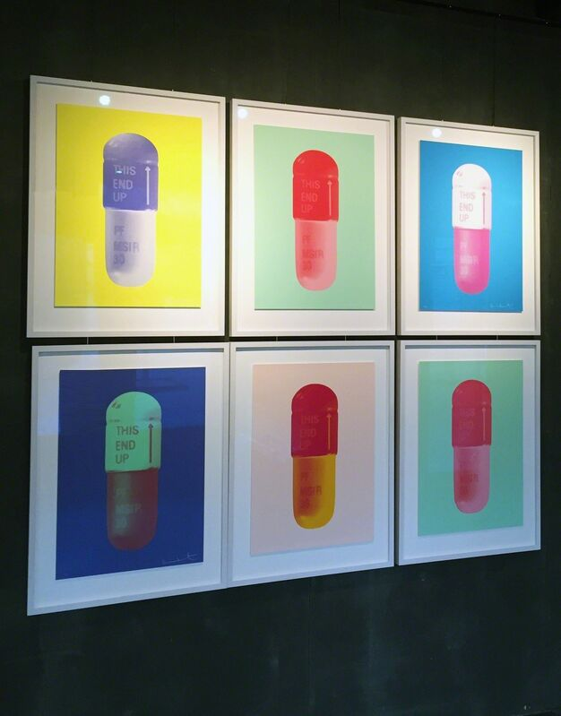 Damien Hirst, 'The Cure, NeonYellow-FrenchLilac-Amethyst', 2014, Print, Kunsthuis Amsterdam