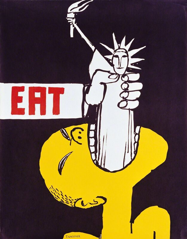 Tomi Ungerer, 'Eat ', 1967, Posters, Drawing Center