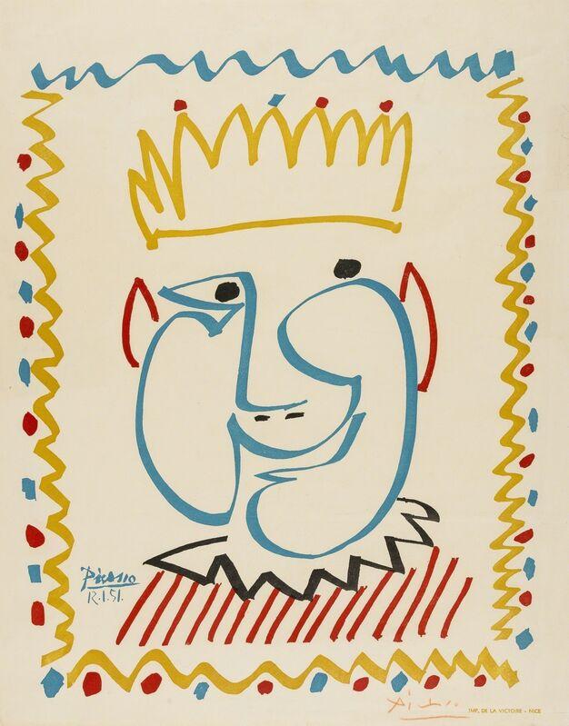 Pablo Picasso, 'Tête de Roi', 1951, Print, Lithograph, Forum Auctions