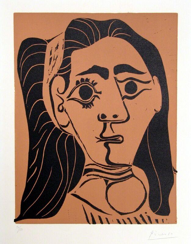 Pablo Picasso, 'Jacqueline au Bandeau ', 1962, Print, Linocut on Arches, RoGallery