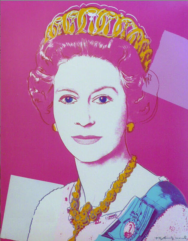 Andy Warhol, 'Queen Elizabeth II of the United Kingdom (from Reigning Queens)', 1985, Print, Silkscreen on paper, IFAC Arts