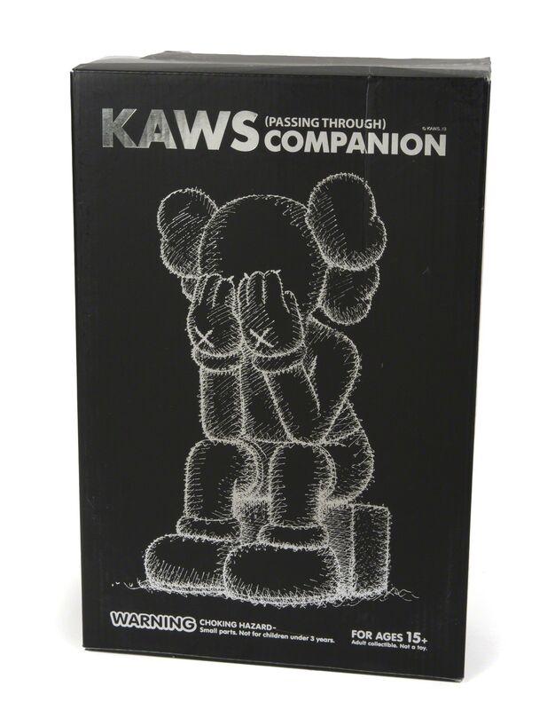 KAWS, 'Passing Through (Black)', 2013, Sculpture, Vinyl figure with original box//Stamped under foot, Julien's Auctions