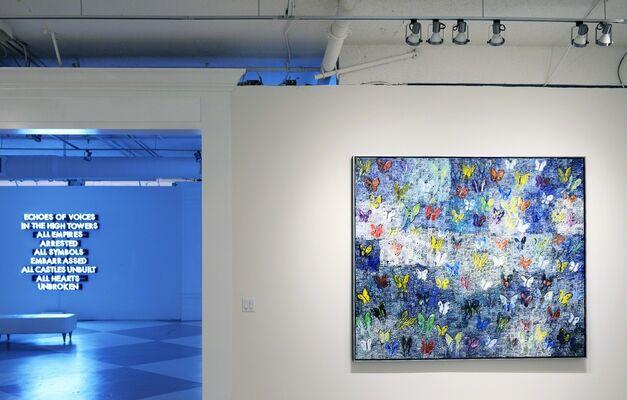 Robert Montgomery: Light As Poetry, installation view