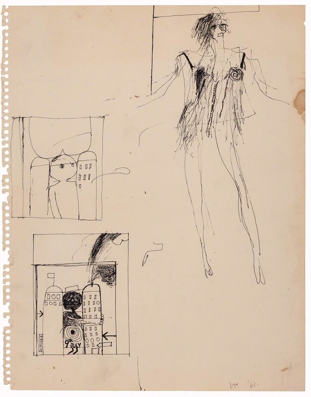 David Hockney, 'Untitled', 1961, Drawing, Collage or other Work on Paper, Ink on paper, Doyle