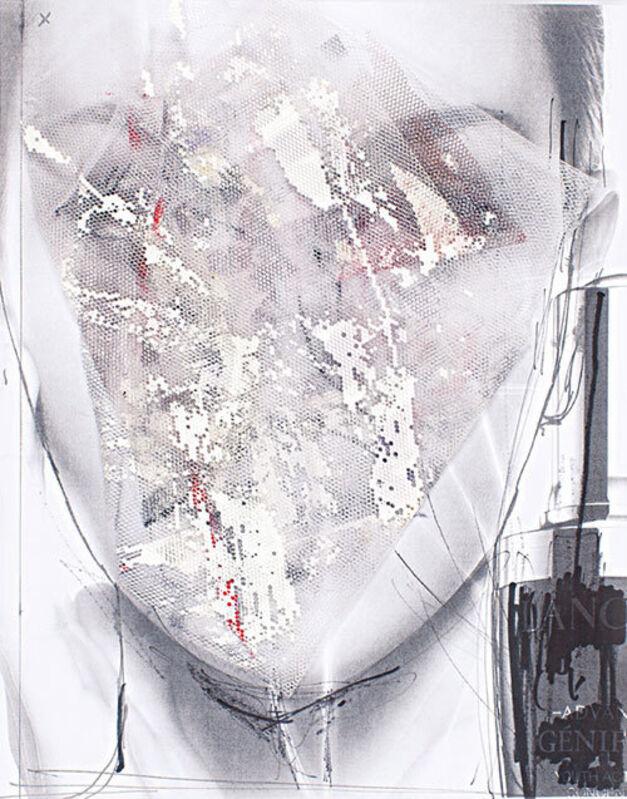 Irfan Önürmen, 'CV N. 1', 2016, Mixed Media, Tulle and acrylic on photocopy, Aria Art Gallery