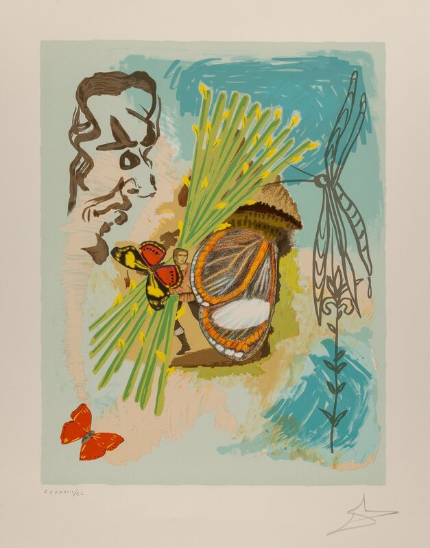 Salvador Dalí, 'The Overseer, from Ivanhoe', 1978, Print, Lithograph in colors on Arches paper, Heritage Auctions