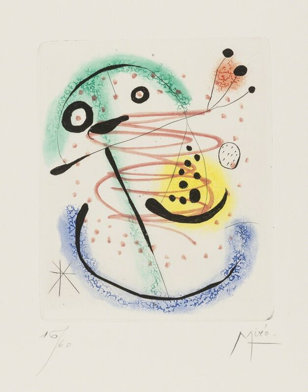 Joan Miró, 'La Bague D'Aurore (Dupin 139)', Print, Etching with aquatint printed in colours on Rives paper, Forum Auctions