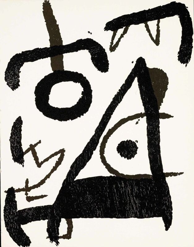Joan Miró, 'Untitled (D.1294, Miro Graveur Volume III)', 1978, Print, Wood engraving, Martin Lawrence Galleries