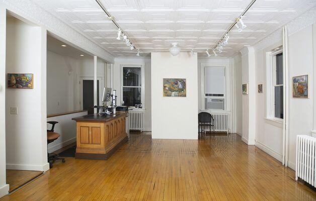 Ruth Miller at John Davis Gallery, Hudson, New York with Bruce Gagnier, Nina Maric, Pamela Salisbury, Maud Bryt, and Eric Holzman, installation view