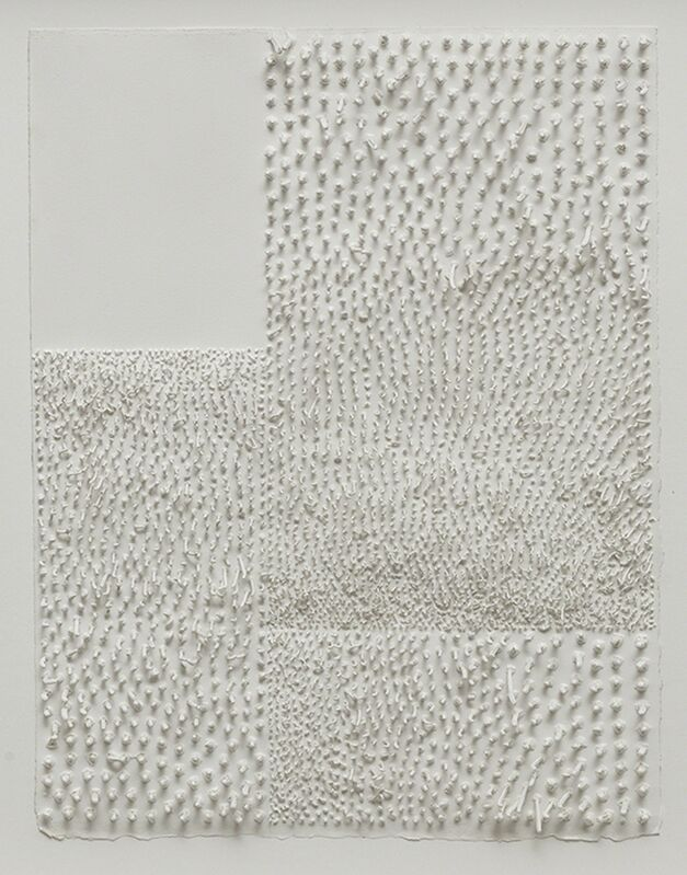 Lars Christensen, 'White Structure / Manual #6', 2014, Drawing, Collage or other Work on Paper, Acrylic on paper, Anne Mosseri-Marlio Galerie