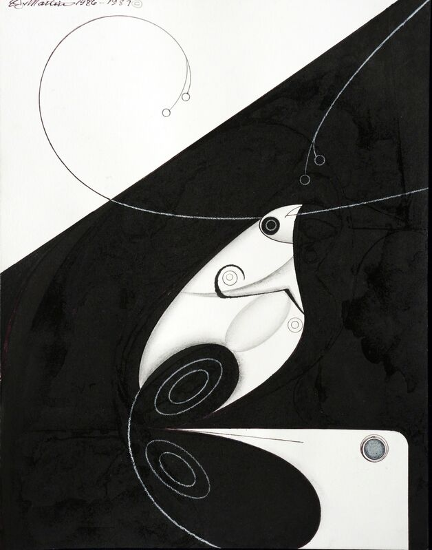 Eugene James Martin, 'Untitled', 1986-1987, Drawing, Collage or other Work on Paper, Pen, ink and graphite drawing, Eugene Martin Estate
