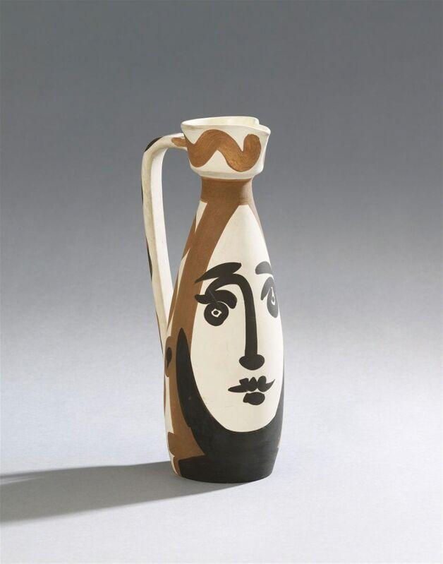 Pablo Picasso, 'Visage', 1955, Sculpture, Partially glazed ceramic, William Shearburn Gallery