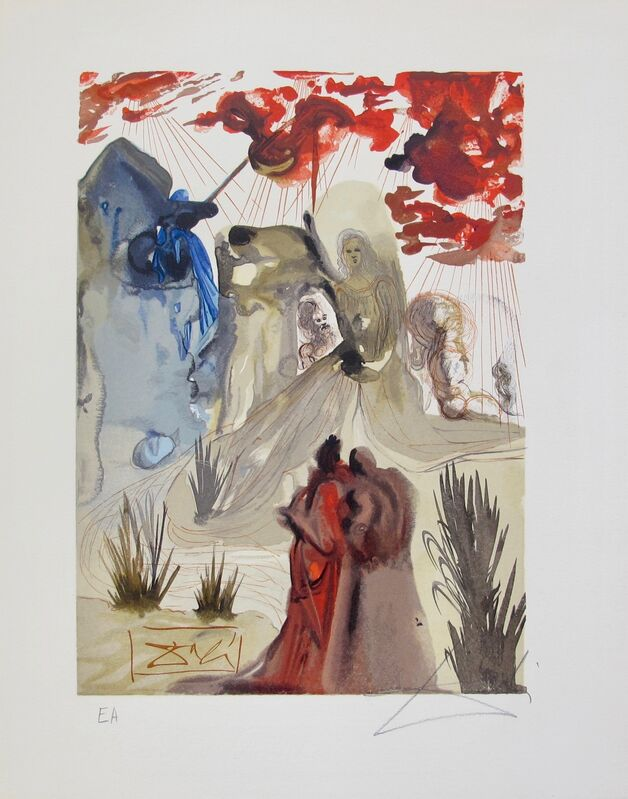 """Salvador Dalí, '""""The Divine Forest"""", Artist Proof, Purgatory, The Divine Comedy', 1960, Print, Woodcut Engraving, Inviere Gallery"""