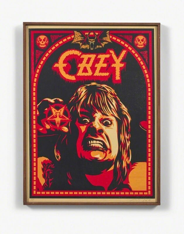 """Shepard Fairey, 'Ozzy', 2001, Painting, Screen print on canvas; signed, dated and numbered ; countersigned, dated and numbered """"PP"""" on the back, NextStreet Gallery"""