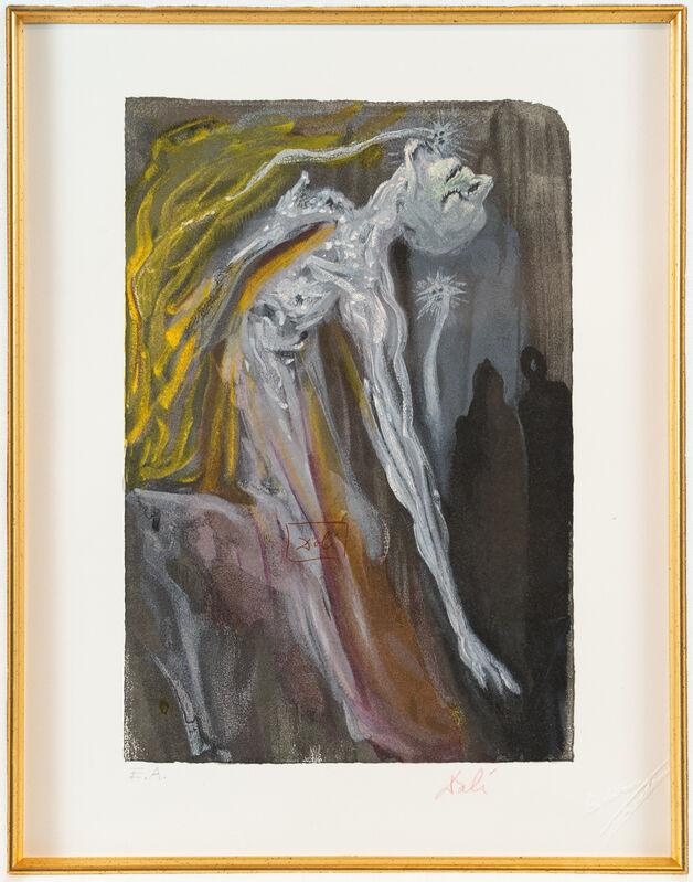 Salvador Dalí, 'Inferno Series #9, print by Salvador Dali', ca. 1964, Print, Color woodblock print on paper,  Objets Trouvés