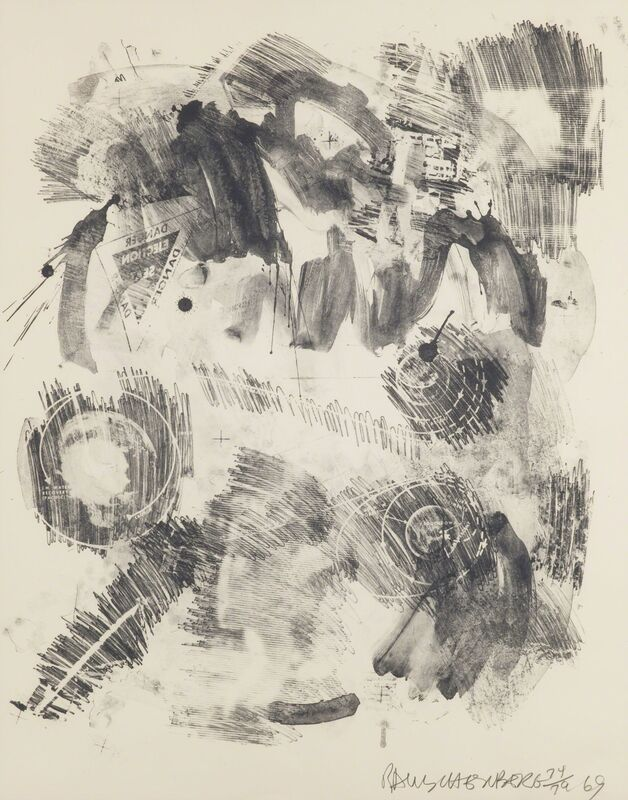Robert Rauschenberg, 'Loop, from the Stoned Moon Series', 1969, Print, Lithograph, Childs Gallery