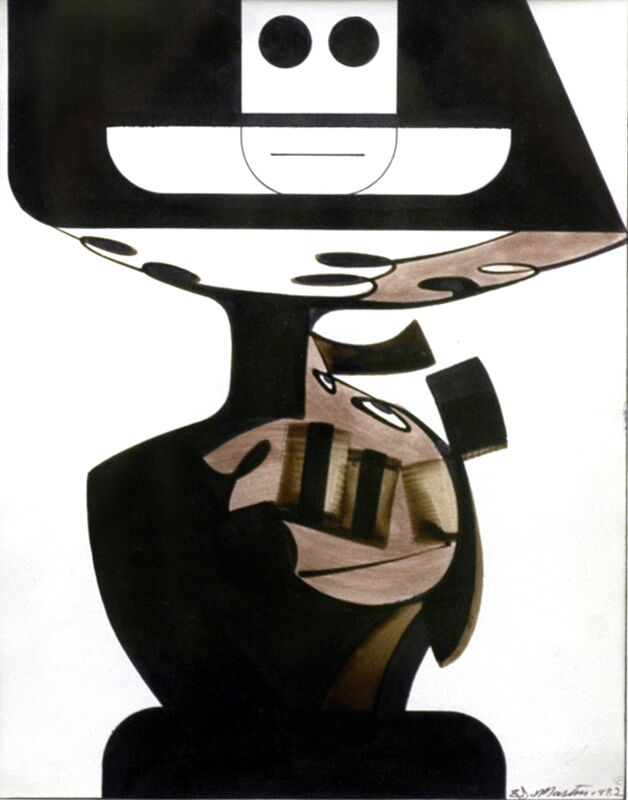 Eugene James Martin, 'Show-Off II', 1982, Drawing, Collage or other Work on Paper, Ink and bamboo reed stick pen, Eugene Martin Estate