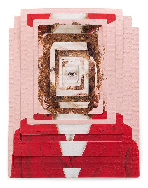 Karen Navarro, 'Subject #12', 2019, Photography, Archival inkjet print, laser-cut and embossed on gesso panel, Foto Relevance