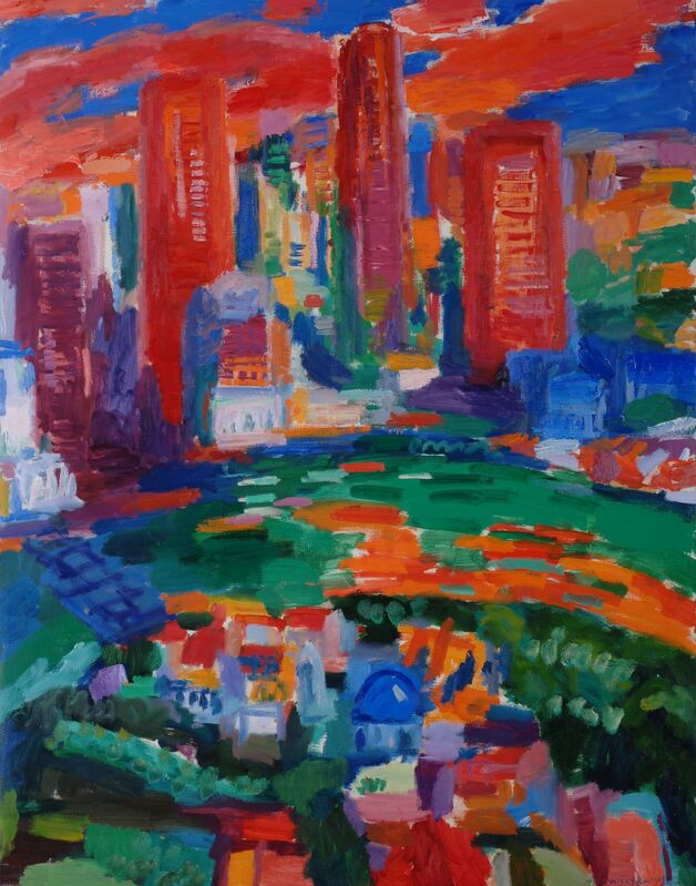 Willy Ramos, 'Ciudad Para Sonar', Painting, Oil on canvas, Odon Wagner Gallery