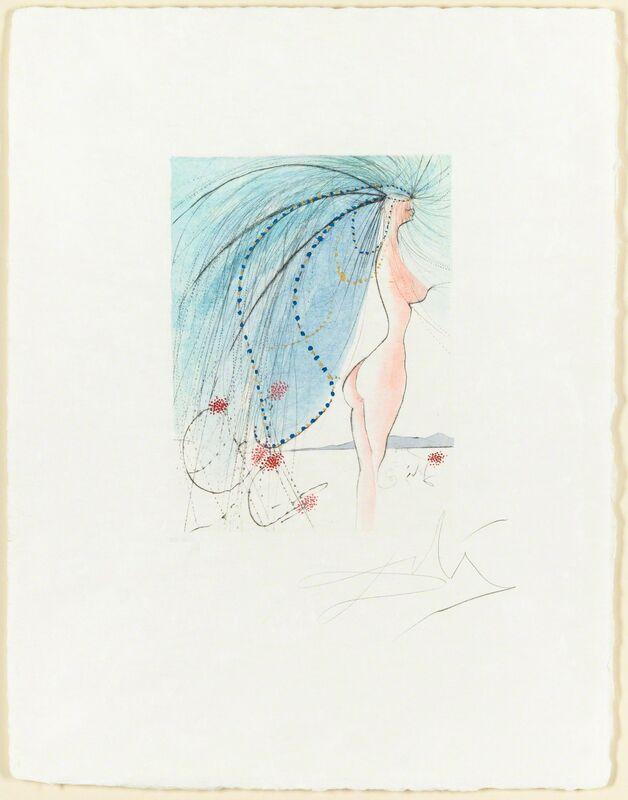 Salvador Dalí, 'Diane de Poitiers', 1971, Print, Drypoint and Roulette, Christopher-Clark Fine Art