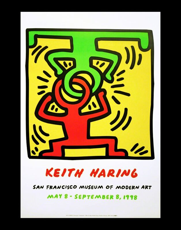 Keith Haring, 'Keith Haring at San Francisco Museum of Modern Art poster ', 1998, Posters, Offset lithograph, Lot 180