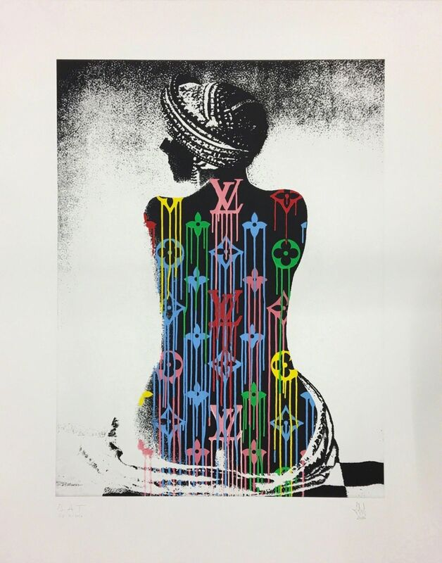 Zevs, 'Liquidated Louis Vuitton Murakami / ManRay ', 2016, Drawing, Collage or other Work on Paper, Etching, MARCEL STROUK Galerie Rive Gauche