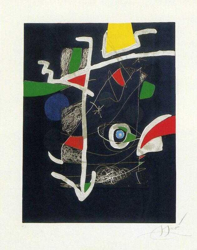 Joan Miró, 'Llibre dels sis sentits VI', 1981, Print, Etching, aquatint, Galeria Joan Gaspar