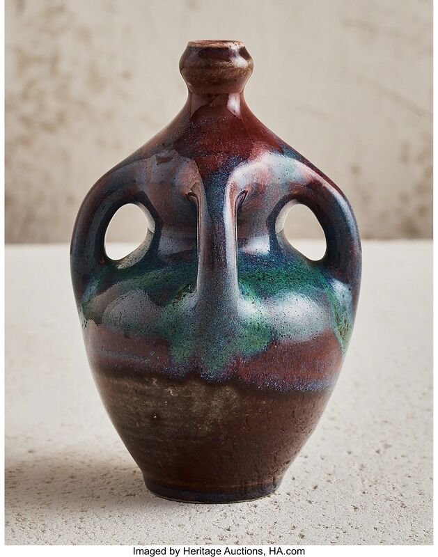 Ernest Chaplet, 'Handled Vase', circa 1890, Design/Decorative Art, Glazed porcelain, Heritage Auctions