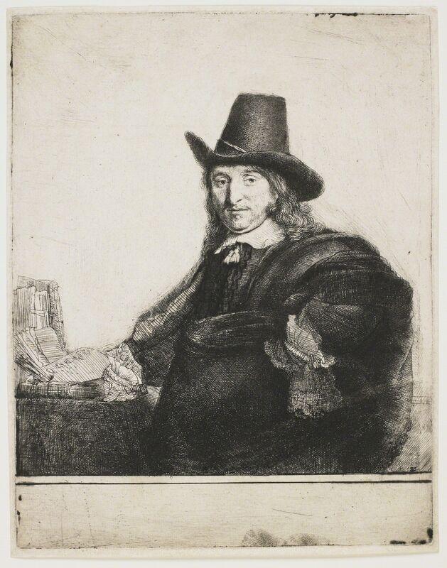 Rembrandt van Rijn, 'Jan Asselyn (Krabbeje), painter', 1647, Print, Etching, engraving and drypiont, Helmut H. Rumbler Kunsthandel