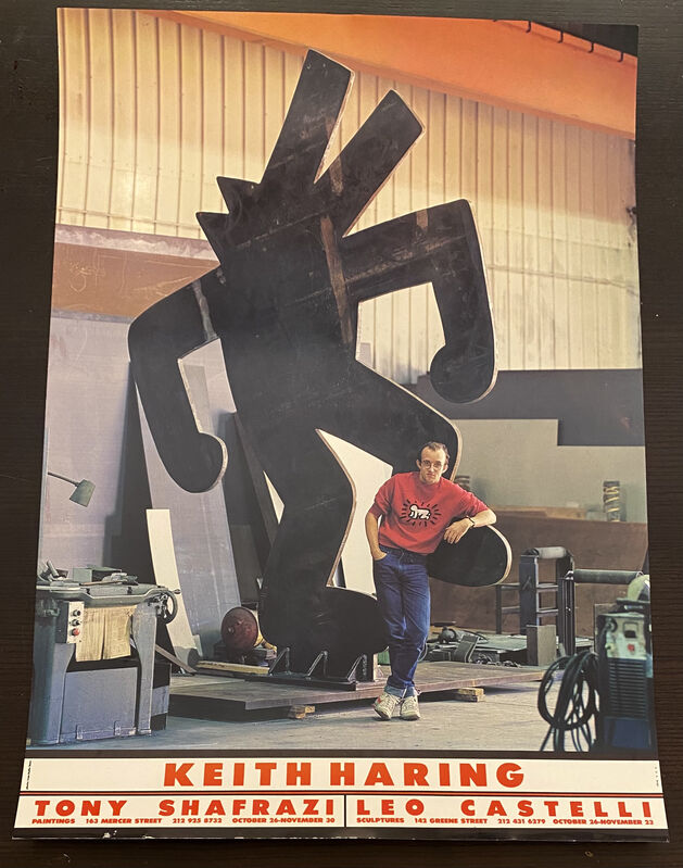 Keith Haring, 'Keith Haring Tony Shafrazi Leo Castelli exhibition poster 1985', 1985, Ephemera or Merchandise, Exhibition poster, Lot 180