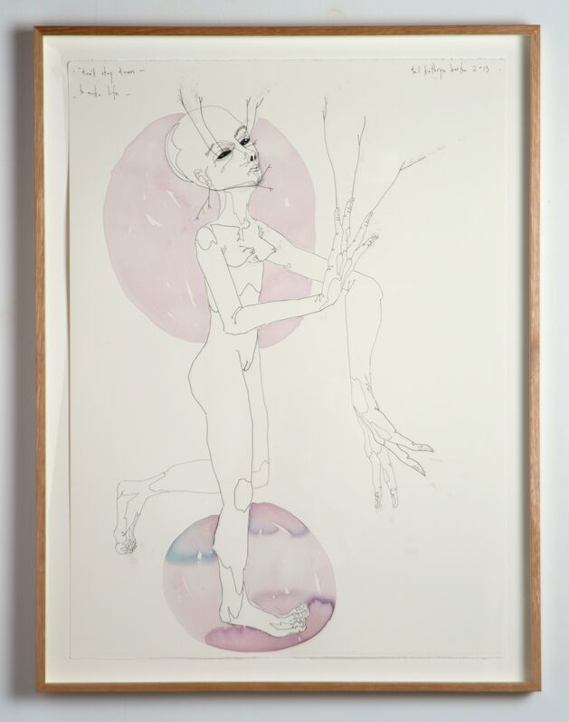 Del Kathryn Barton, 'don't stay down to make life', 2013, Painting, Ink, watercolour and synthetic polymer paint on 600gm hot pressed watercolour paper, Roslyn Oxley9 Gallery