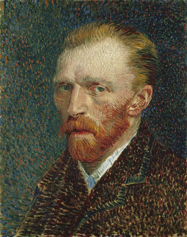 Vincent van Gogh, 'Self-Portrait', 1887, Painting, Oil on artist's board, mounted on cradled panel, Art Institute of Chicago