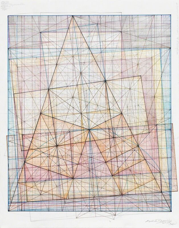 Mark Reynolds, 'Minor Third Series: Dance of the Root Two, 2.1.15', 2015, Drawing, Collage or other Work on Paper, Graphite, colored inks, colored pencils, and pastels on cotton paper, Pierogi