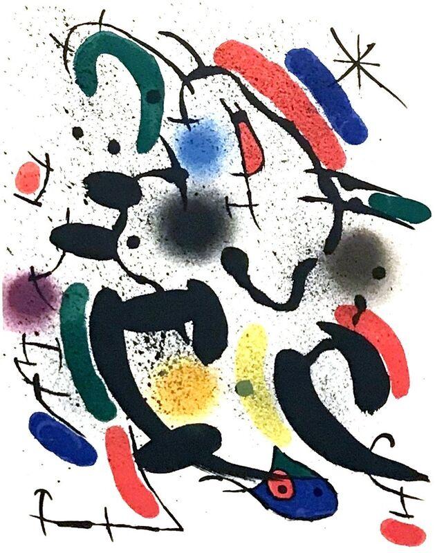 Joan Miró, 'Plate VIII', 1972, Print, Lithograph, Georgetown Frame Shoppe
